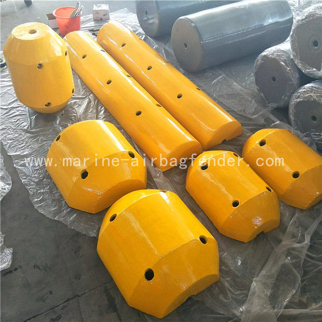 Bright Color Deep Sea Marine Mooring Buoy With Removable Steel Frame